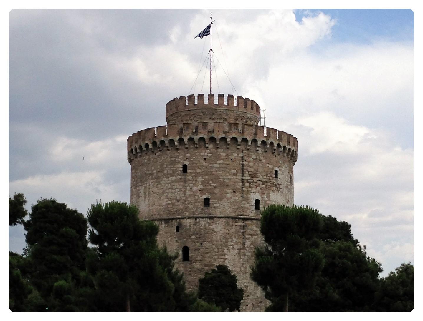 Weißer Trum von Thessaloniki