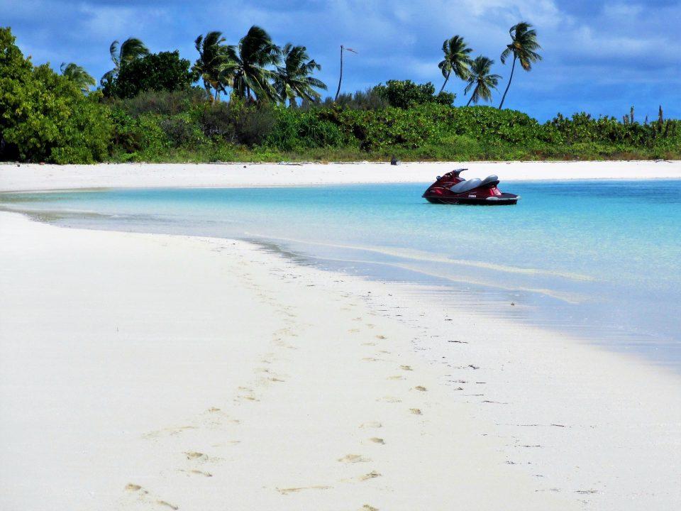 einsame Insel Malediven schnorcheln
