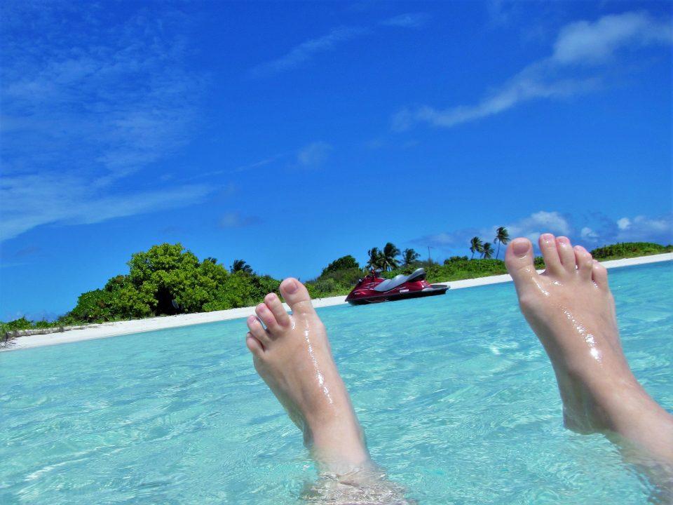 Füße mit Jetski