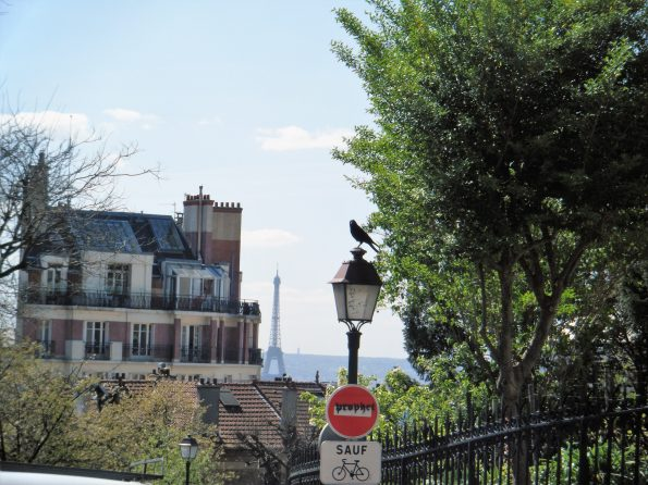 Weg hoch zu Sacre-Coeur