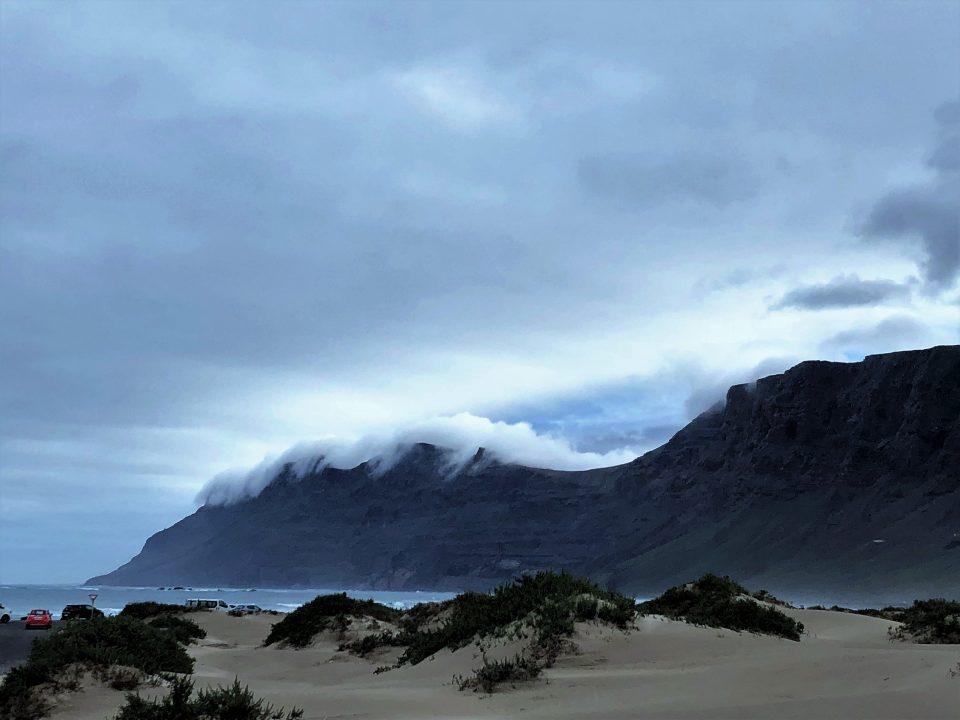 Wolken die übers Clif wandern
