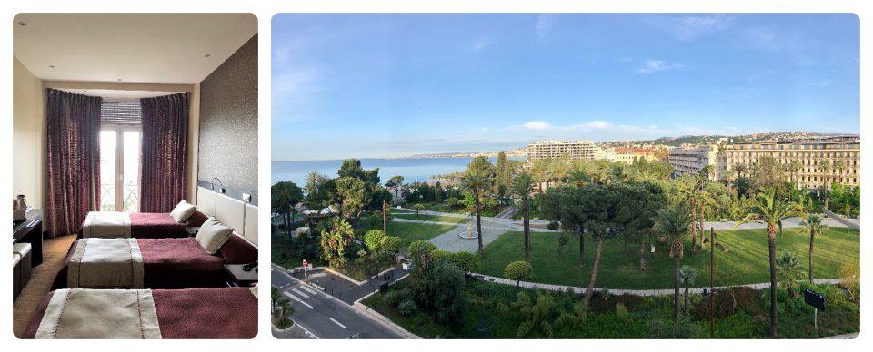 Nizza Highlights Ausblick vom Hotelzimmer