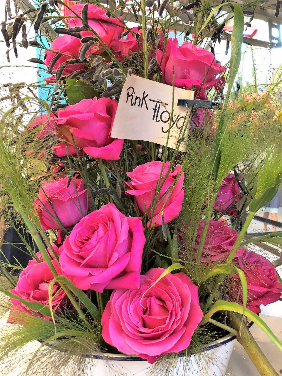 Rosengesteckt Pink Floyd