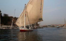 Auf dem Nil bei Assuan