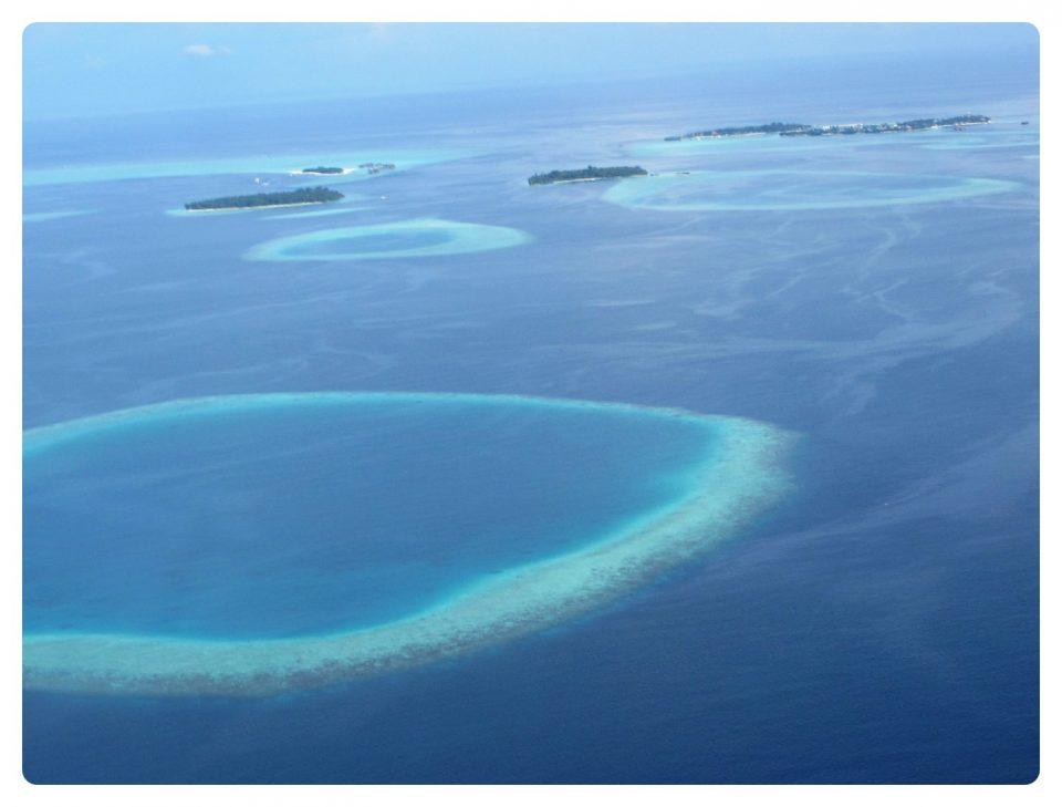 Ausblick Wasserflugzeug Malediven