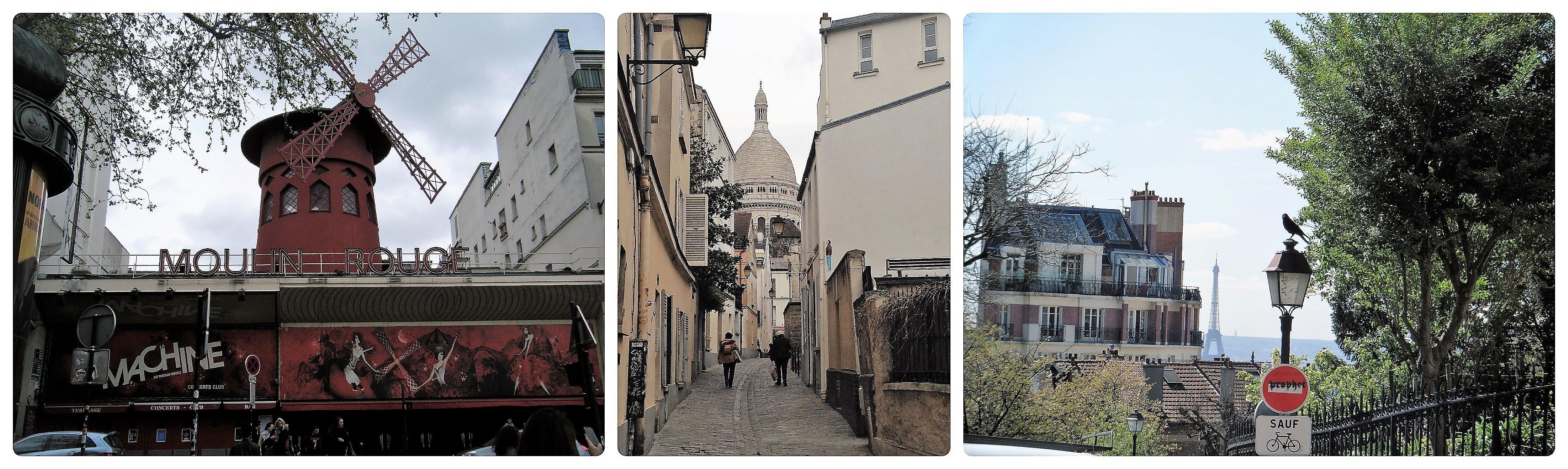 Montmatre Künstlerviertel in der Stadt der Liebe