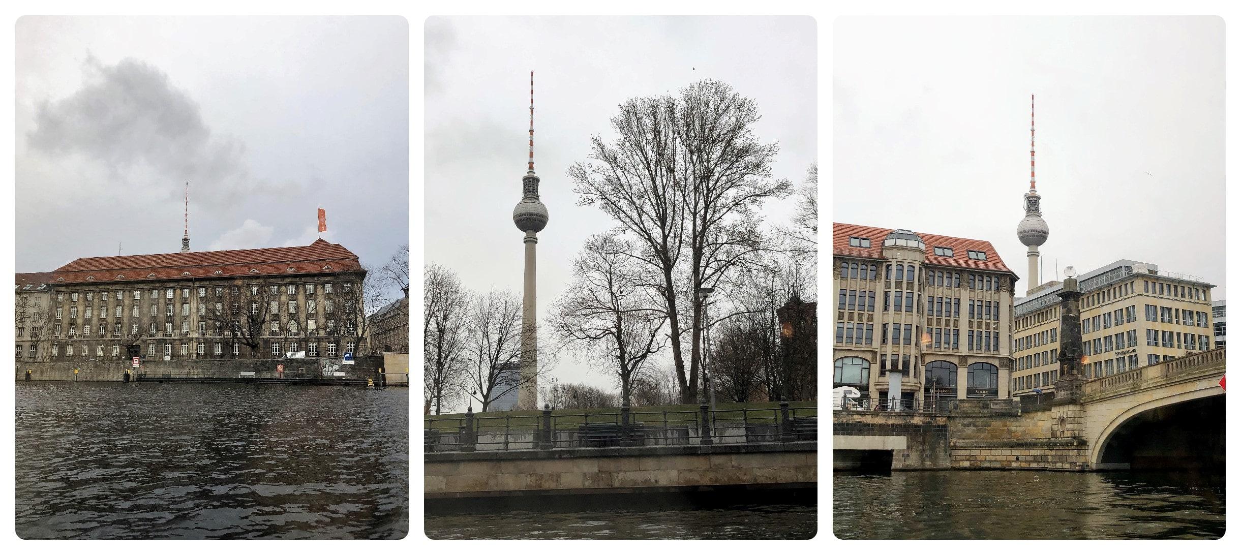 Fernsehturm bei Schiffsrundfahrt Berlin auf der Spree