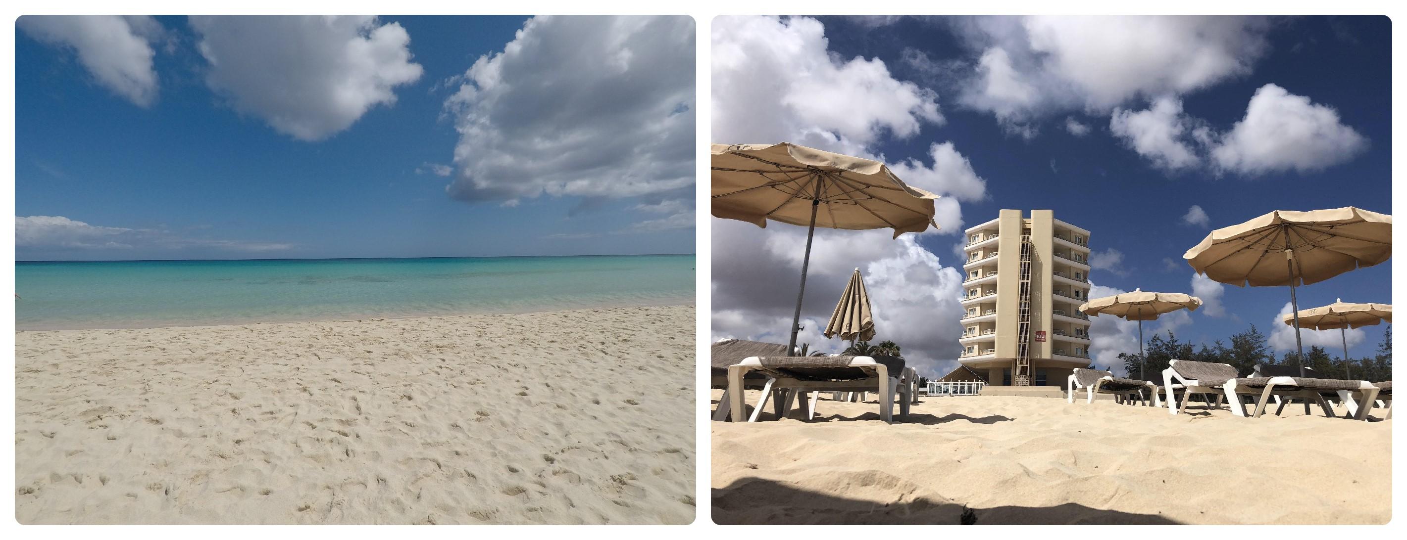 Strand mit Riu Hotel