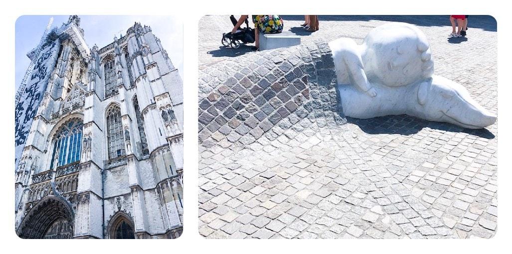 Liebfrauenkirche mit Nello und Hund Patrasche